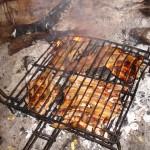 Forro, panceta y muslo de pollo